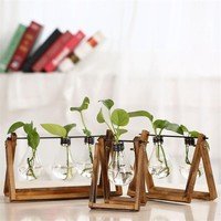 Nordic Shop Solid Wood with Bulb Plant vases