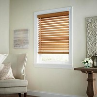 Home Decorators Chestnut Cordless 2-1/2 in. Faux Wood Blind, 64in Drop