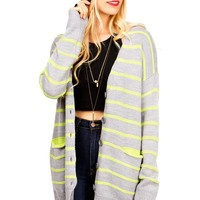 Concrete Stripe Cardigan