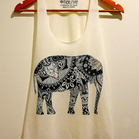 Elephant Tank Top Tunic TShirt Singlet Vest Women Tank Sleeveless