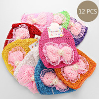 Bundle Baby Bow Knitted Hats