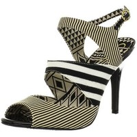 Jessica Simpson Women's Philomena Sandal,Black White,9.5 M US