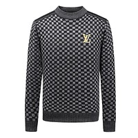 LV autumn and winter new men's warm knit bottoming sweater