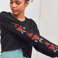 Rose Print Long sleeve Tee