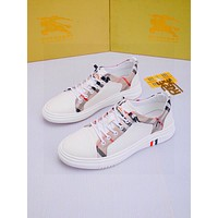 BURBERRY Men Fashion Boots fashionable Casual leather Breathable Sneakers Running Shoes06300cx