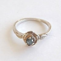 Blue Diamond Ring Rose, 4.25