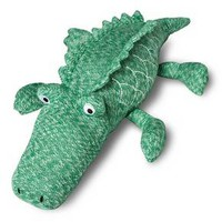 "Alligator Knit Throw Pillow 22""X5"" - Green - Pillowfort™"