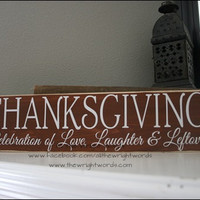 24x6 Thanksgiving Wood Sign