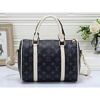 LV Fashion Multicolor Full Print Luggage for Men and Women Traveling Home Blue