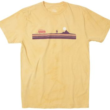 Road Trip Chest Stripe cloud wash lemon graphic tee