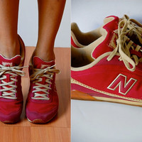 Vtg New Balance 450 Red White Old School Sneakers 7