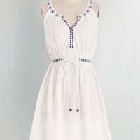 Boho Mid-length Sleeveless A-line Santorini Sweetie Dress