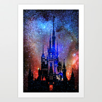 Fantasy Disney. Nebulae Art Print by Guido Montañés
