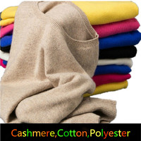 Cashmere Fashion 2017 Womem's Sweaters Men O-neck Collar Female Knitted Cashmere Sweater Loose Pullover Women Turtleneck Sweater
