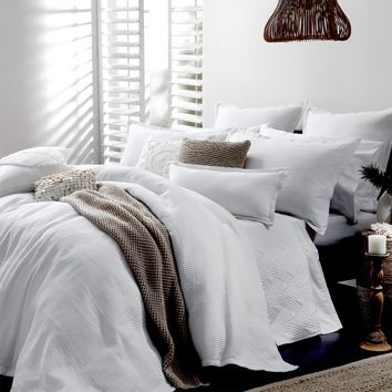 Manhattan White Quilt Cover Set by Private Collection - Just Bedding