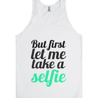 But first-Unisex White Tank