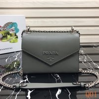 HCXX 19Aug 936 Prada Saffiano Leather Chain Flap Bag Fashion Quilted Bag 21-14-10cm