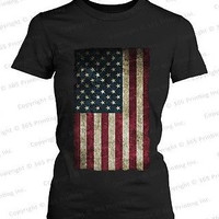 Fourth of July Red White and Blue Shirts - American Flag Women's T-shirt