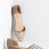 ModCloth Like a Natural Woven Flat in Grey