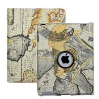 Amazon.com: iPad 2 Stylish Map Pattern 360° Rotating Smart Cover PU Leather Case w/ Rotating Stand (For iPad 2 only, will not fit iPad 3): Computers & Accessories