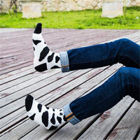 NEW fashion autumn and winter new cow pattern cotton socks in the man male socks free shipping
