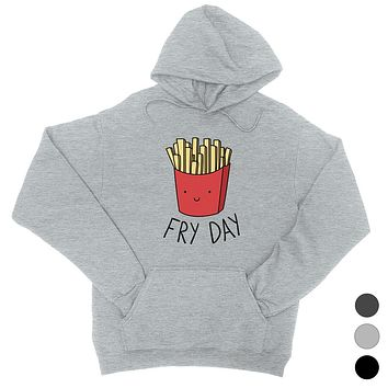 365 Printing Fry Day Womens Hoodie French Fries Lovers Gift Hooded Sweatshirt