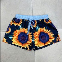 Short and Sweet Sunflower Shorts