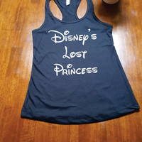 Disney's Lost Princess. Tank Top. Racer Back. Cute Tank. Workout Tank Top. FREE SHIPPING