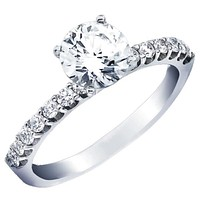 Ben Garelick Royal Celebration Shared Prong Diamond Engagement Ring