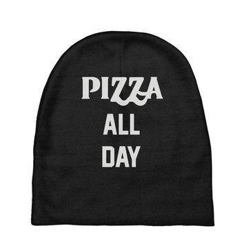 pizza all day Baby Beanies