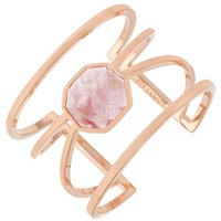 Vince Camuto Rose Gold Crackled Glass Cuff | Dillards