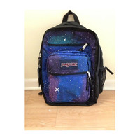 Hand-painted- Big Student Galaxy backpack