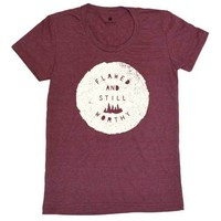 Flawed & Still Worthy - Womens - Heather Cranberry