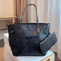 Louis Vuitton LV new embossed shopping bag Western style single shoulder bag