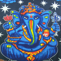 Lord ganesh, elephant Tapestry, Indian Lord Ganesha, Indian tapestry, Throw Wall Hanging, Bedspread Decor Art, Indian Wall Hanging