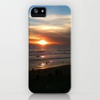 Huntington Beach New Year's Eve Sunset iPhone & iPod Case by Sierra Christy Art