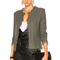 IRO Shavani Jacket in Steel Gray | FWRD