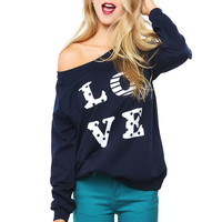 Papaya Clothing Online :: LOVE SWEATSHIRT