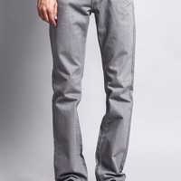 Men's Slim Fit Colored Denim Jeans (Grey)