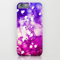 Pretty White Flowers - for iphone iPhone & iPod Case by Simone Morana Cyla
