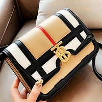 Burberry New Fashion Leather Shopping Leisure Chain Shoulder Bag Crossbody Bag