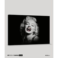 Black and Red Marilyn Monroe Canvas Printing Marilyn Monroe Art Canvas Large Canvas Print