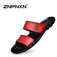 Famous Brand Casual Men sandals Slippers Summer Shoes Beach flip flops fast shipping