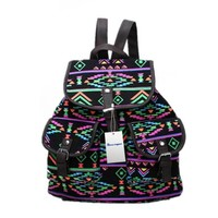 Generic New Vintage Floral Ladies Canvas Bag/School Bag/Backpack (Black):Amazon:Beauty