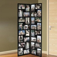 Adeco Trading 32 Opening Wood Hinged Folding Screen-Style Photo Collage Picture Frame - Walmart.com