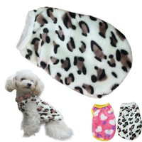 New Qualified Fashion Pet Cat Dog Villus Clothes Winter Leopard Pet Vest Clothing Levert Dropship dig6223