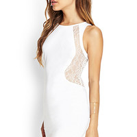 FOREVER 21 Lace Paneled Bodycon Dress
