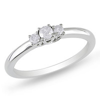 1/5 CT. T.W. Diamond Three Stone Ring in Sterling Silver