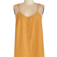 ModCloth Boho Mid-length Sleeveless Cookout for the Day Top in Mustard