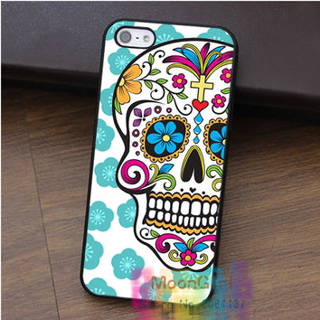 Colorful Mexican Sugar Skull  fashion cell phone case for iphone 4 4s 5 5s 5c SE 6 6s & 6 plus & 6s plus